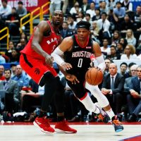 Westbrook first game for Houston Rockets vs Toronto Raptors preseason