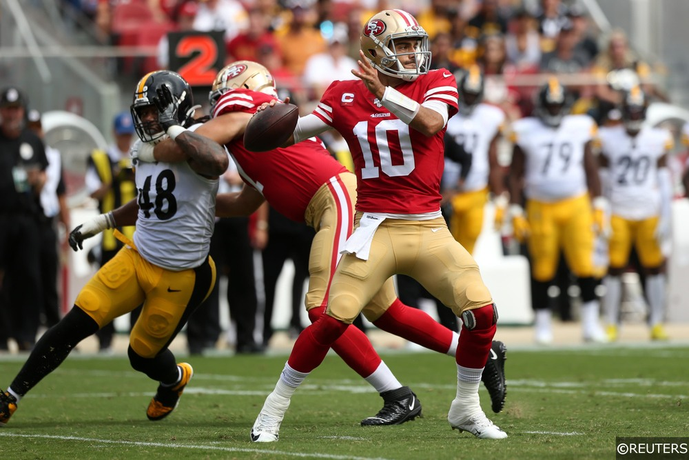 Jimmy Garoppolo Playing for 49ers