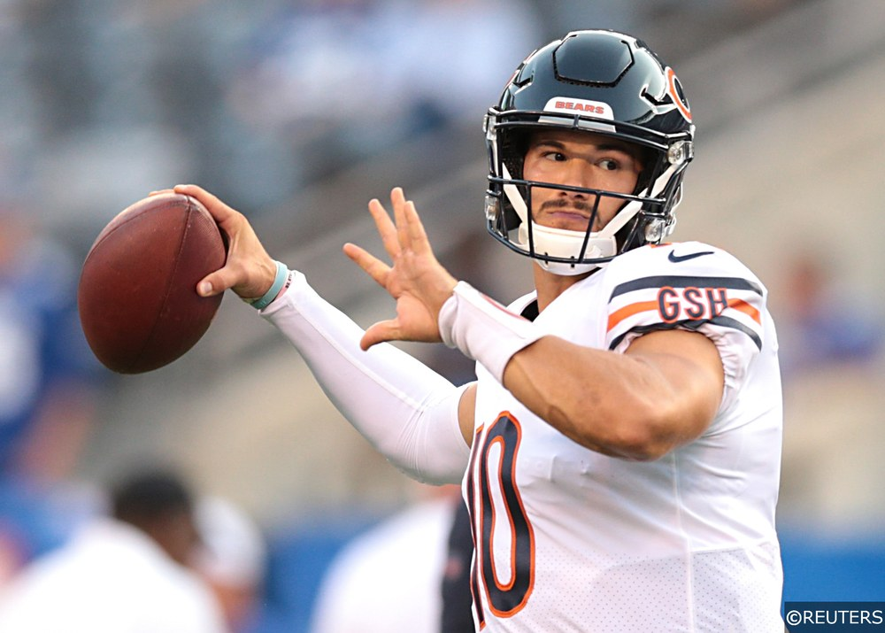 Mitchell Trubisky playing for Bears