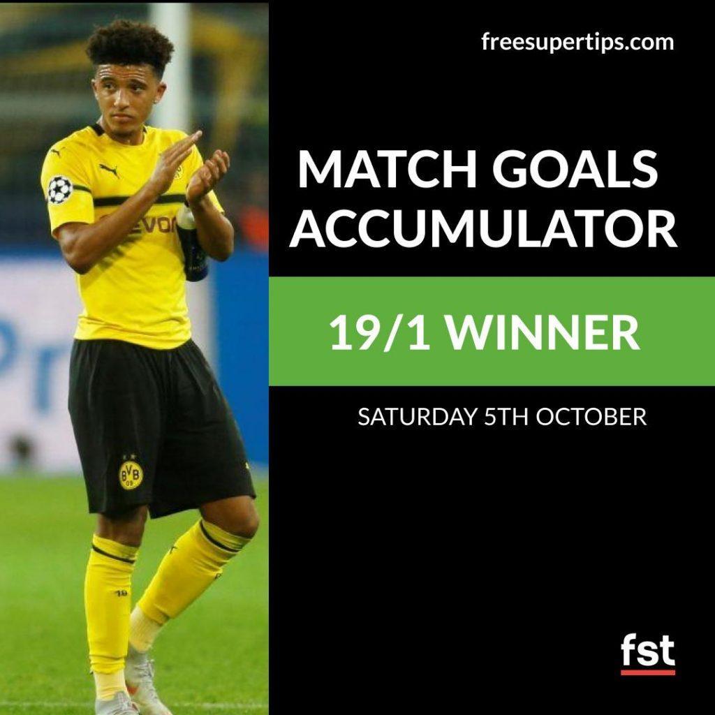 19/1 Match Goals Accumulator Lands!