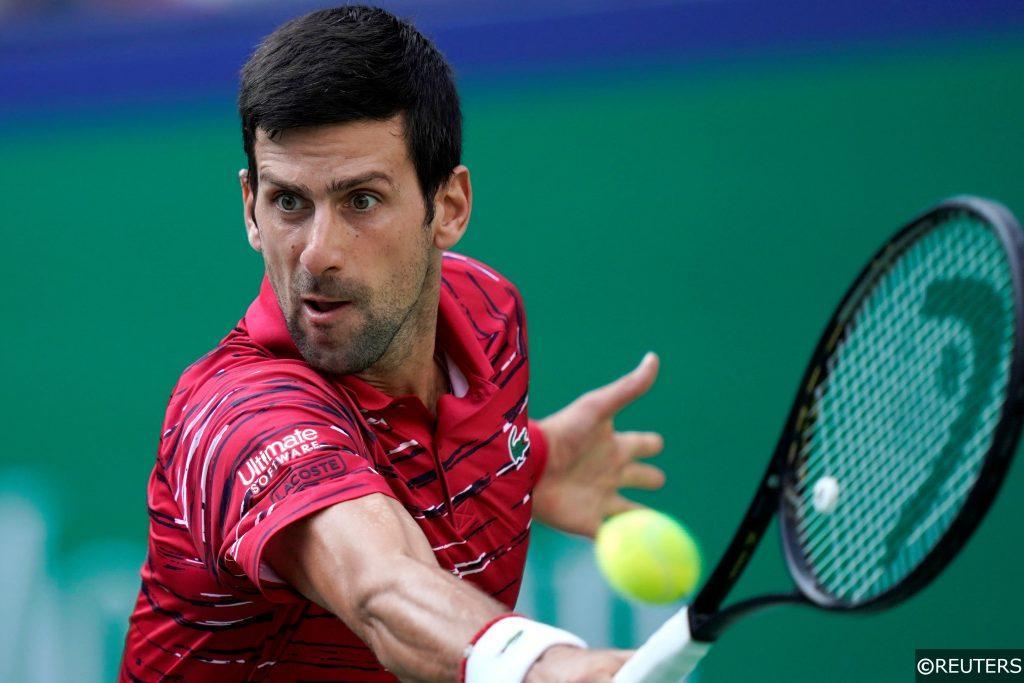 Novak Djokovic in action in Shanghai - Tennis