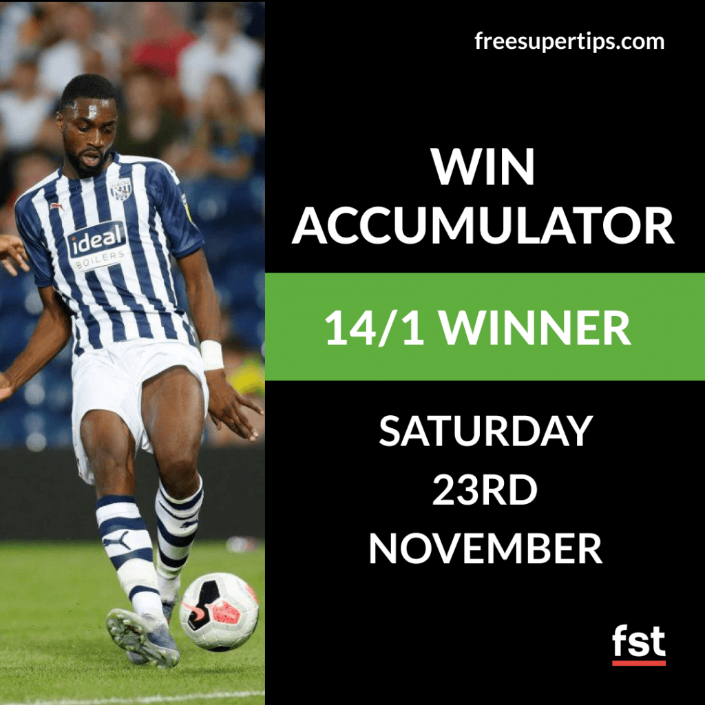 14/1 Win Accumulator Lands on Saturday!