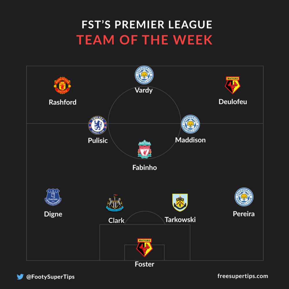 Premier League team of the week game week 12
