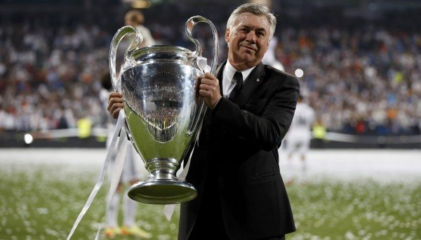 Carlo Ancelotti Champions League trophy