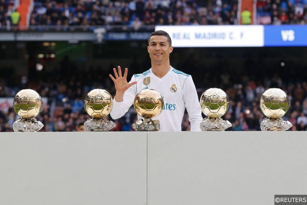 Five-time Ballon d'Or winner Cristiano Ronaldo