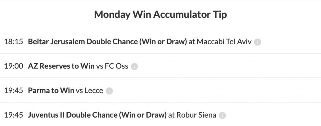 15/1 Win Accumulator Winner