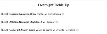 overnight treble winner