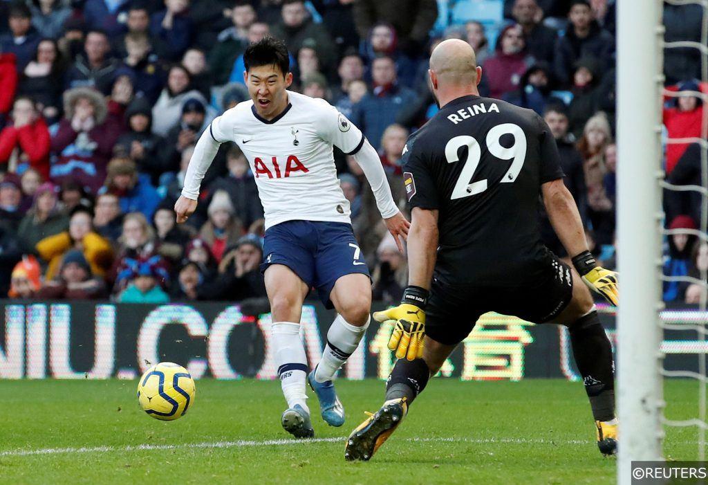 Son Heung-Min Tottenham Pepe Reina Aston Villa