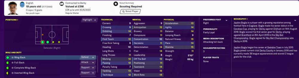 Football Manager 2020 wonderkids