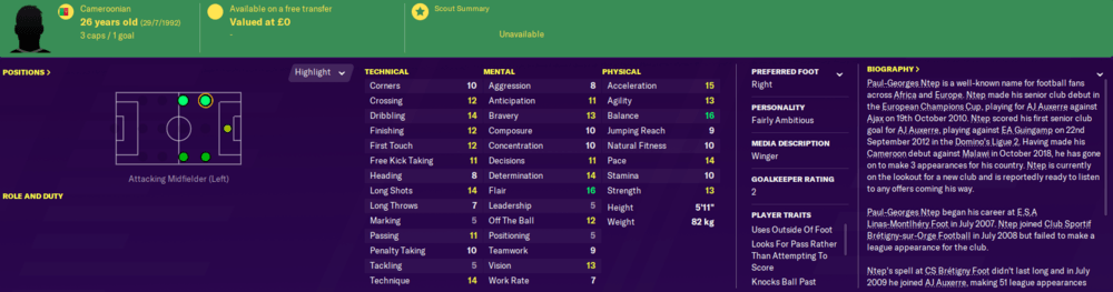 Best free players on football manager