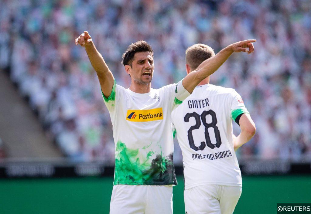 Lars Stindl (31) celebrates for Borussia Monchengladbach in 2020