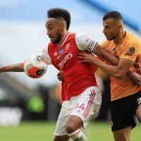 Arsenal Aubameyang and Wolves Saiss