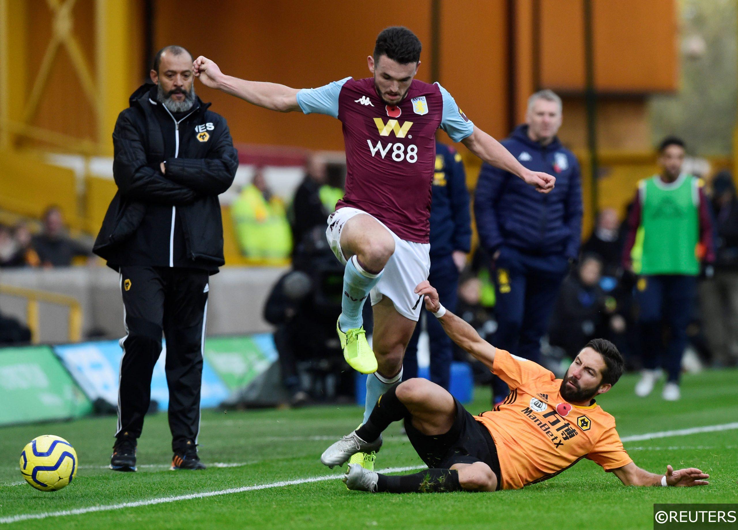 Aston Villa's John McGinn vs Wolves