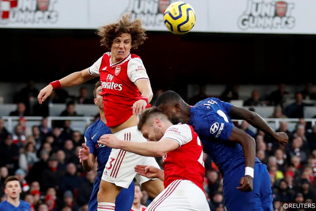David Luiz Arsenal vs Chelsea