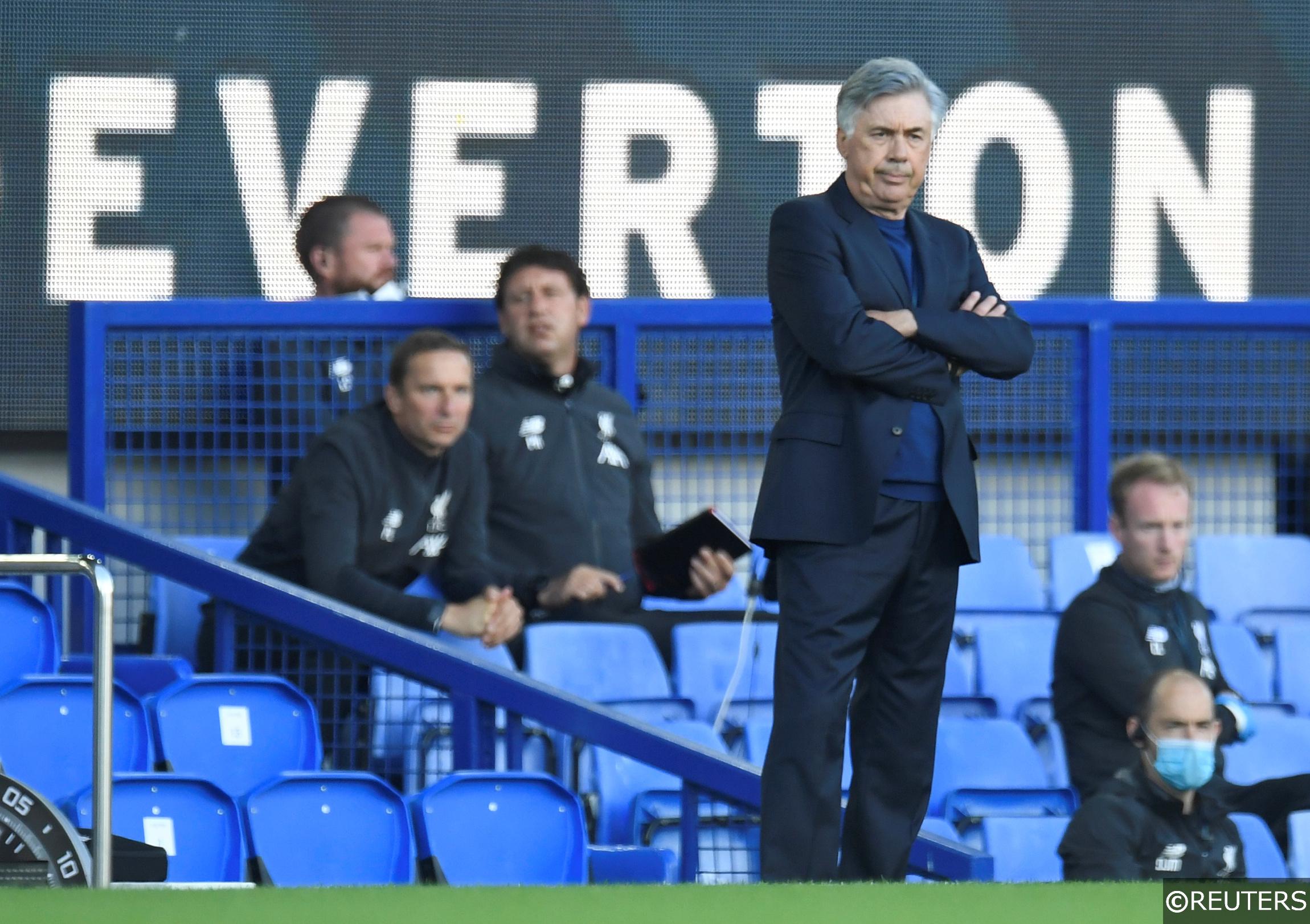 Everton manager Carlo Ancelloti