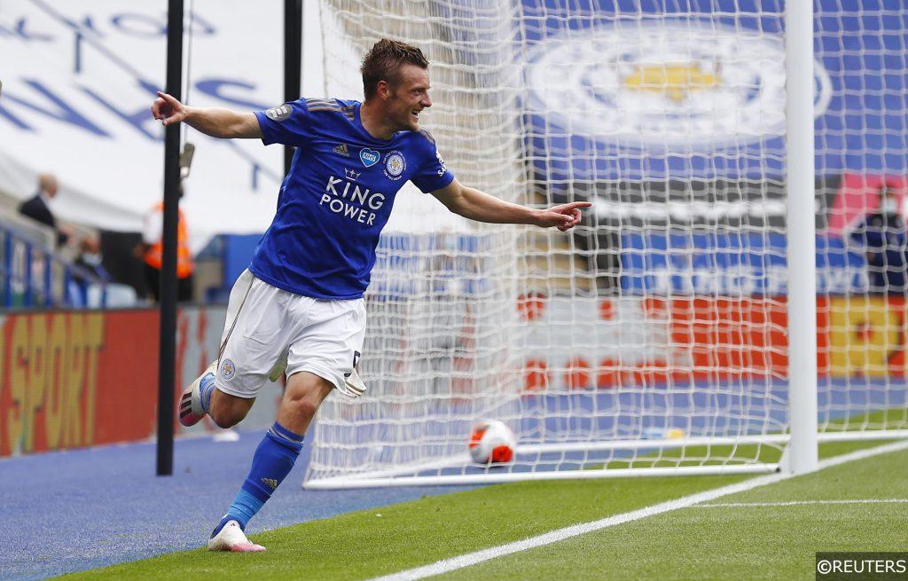 Leicester City forward Jamie Vardy