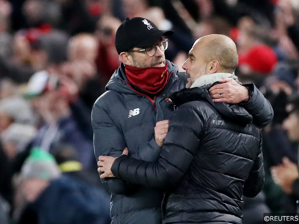 Manchester City vs Liverpool Jurgen Klopp Pep Guardiola