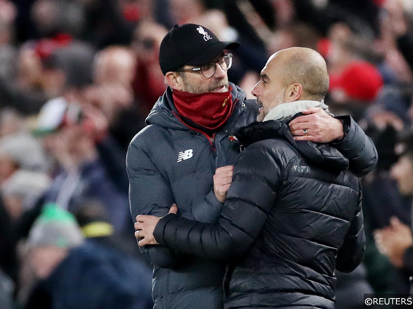 Manchester City vs Liverpool Jurgen Klopp Pep Guardiola