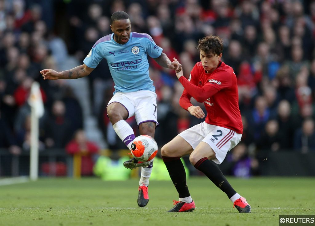 Sterling and Lindelof in the Manchester derby