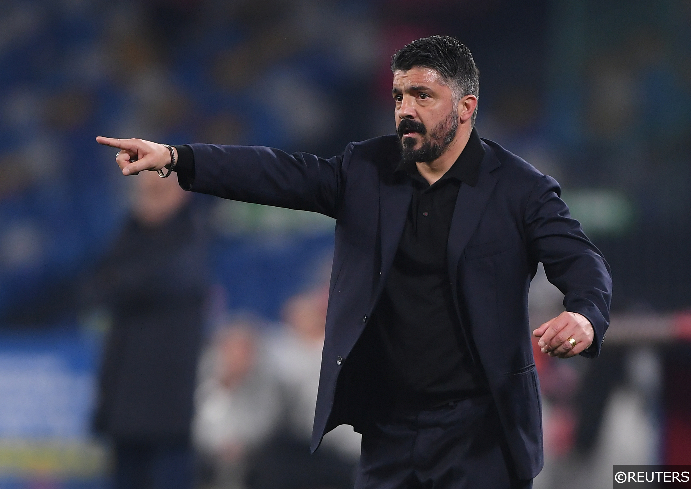 Napoli manager Gattuso in Serie A