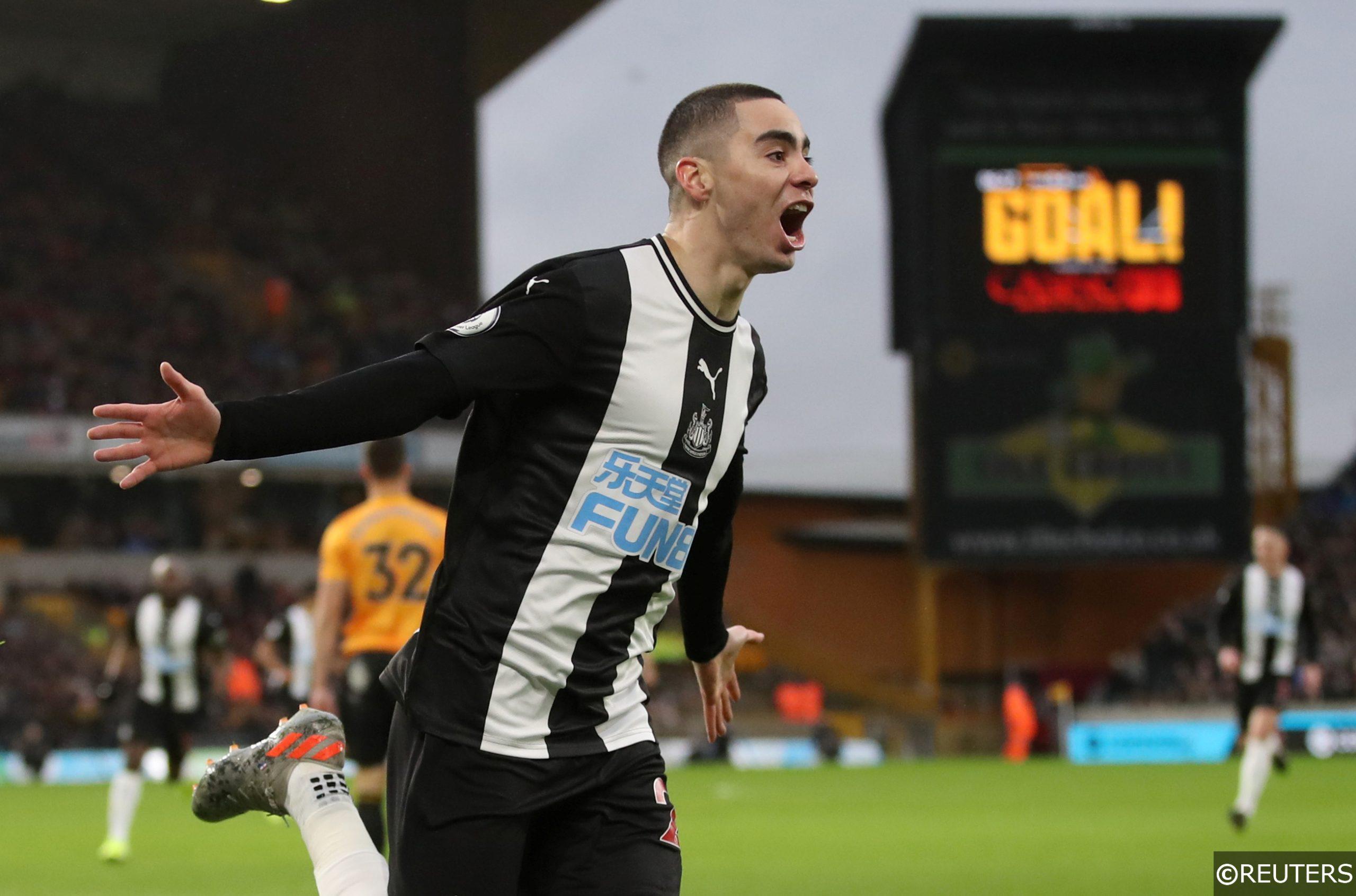 Newcastle United's Miguel Almiron celebrates