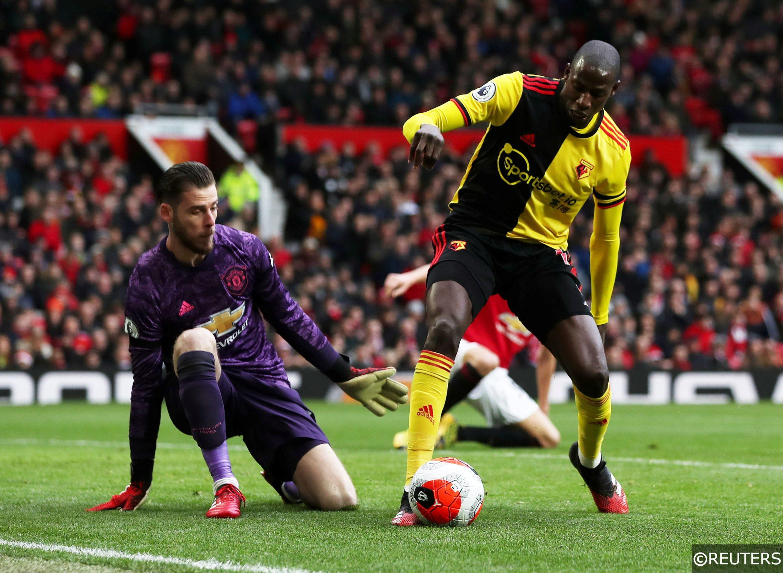 Watford midfielder Abdoulaye Doucoure vs Man Utd