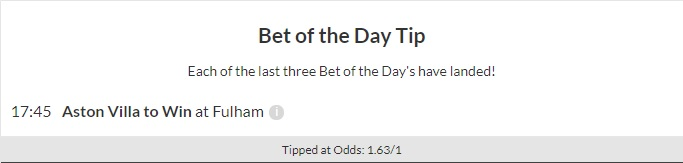 Bet of the Day Monday