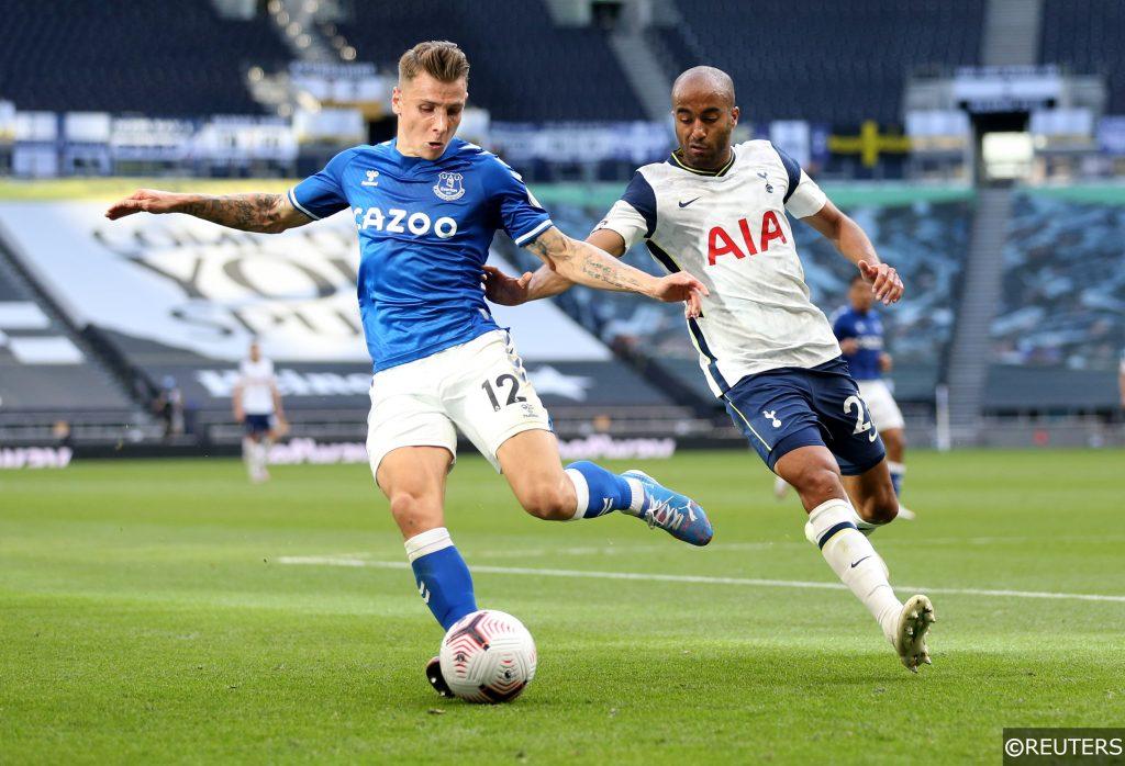 Lucas Digne Everton Lucas Moura Tottenham