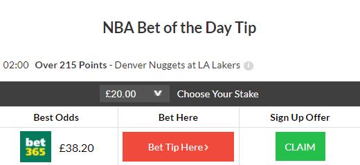 NBA bet of the day winner