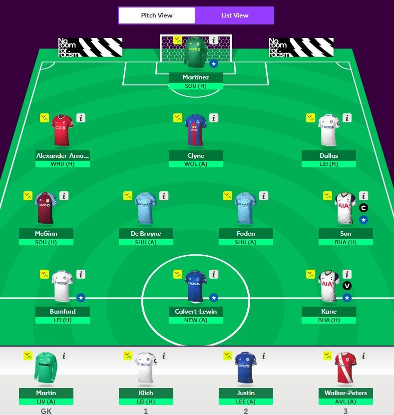 Best Fantasy Premier League Team GW7