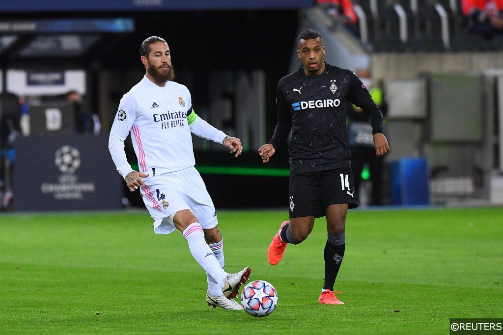 Alassane Plea Sergio Ramos Gladbach vs Real Madrid