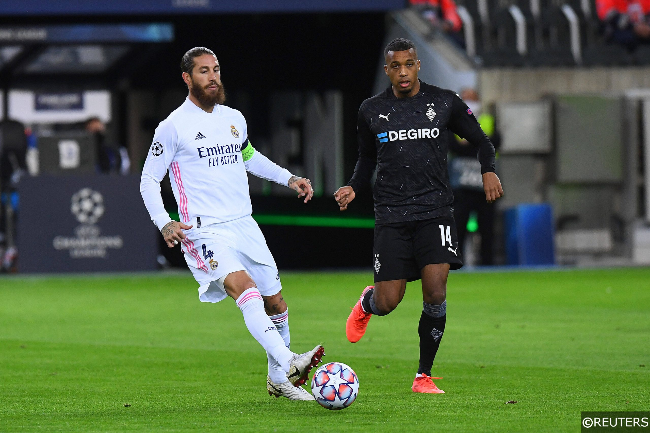 Alassane Plea Sergio Ramos Gladbach vs Real Madrid