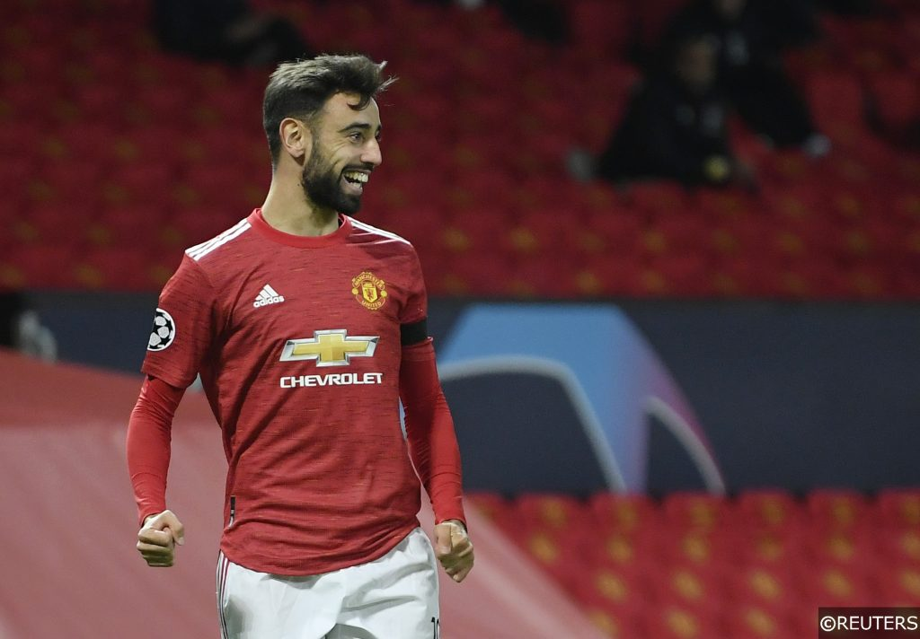 Bruno Fernandes Man Utd Champions League