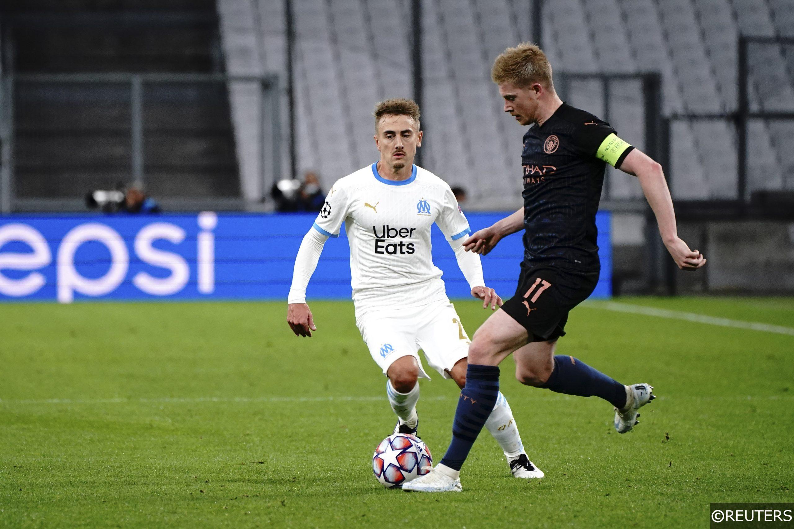 Kevin De Bruyne Valentin Rongier Man City Marseille