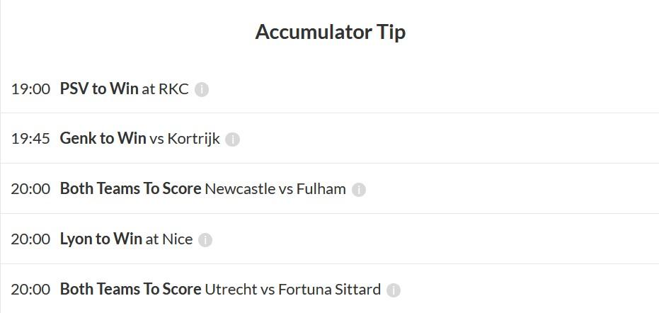 Accumulator tip winner December 19
