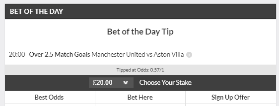 Bet of the Day winner