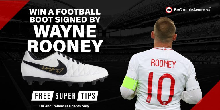 Competition: Win a boot signed by Wayne Rooney!
